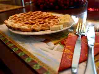 low carb chocolate chip waffle