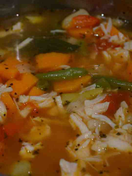 Paleo Spicy Sweet Potato Chicken Soup-BEST SOUP EVER