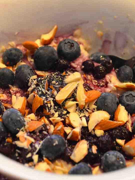 Blueberry Cheesecake Oatmeal!!