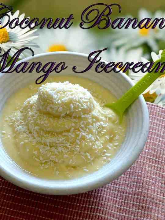 Coconut-Banana-Mango Ice cream! (TOP PICK)