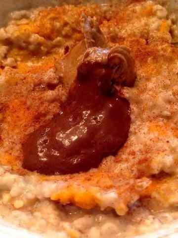 Chocolate Cinnamon Raisin Sweet Potato Oatmeal