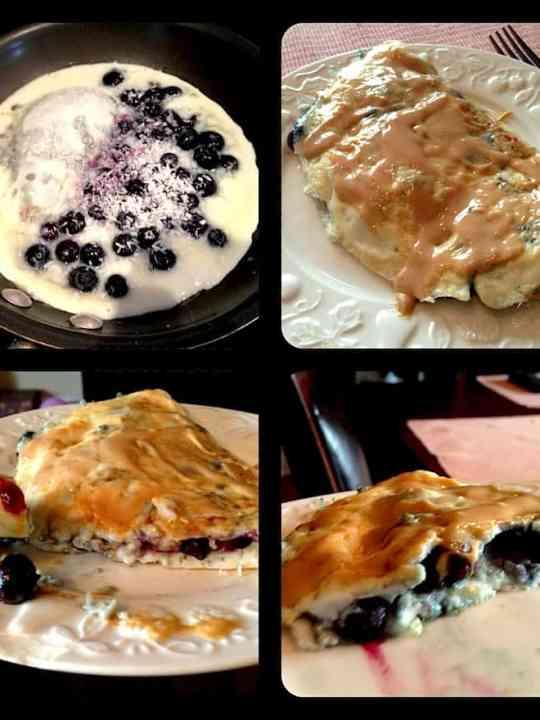 Sweet Blueberry Coconut Omelette
