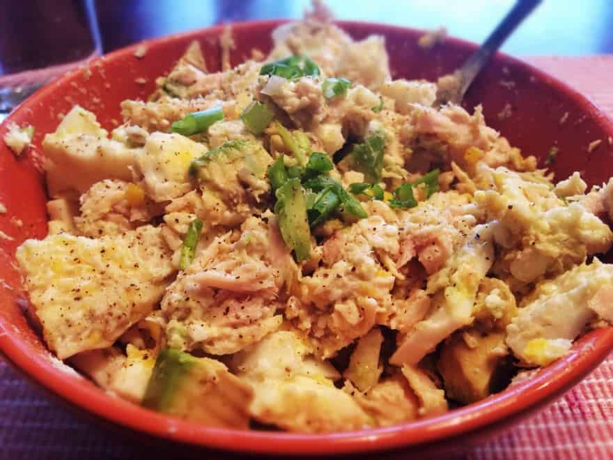 High Protein Spicy Tuna Egg Salad