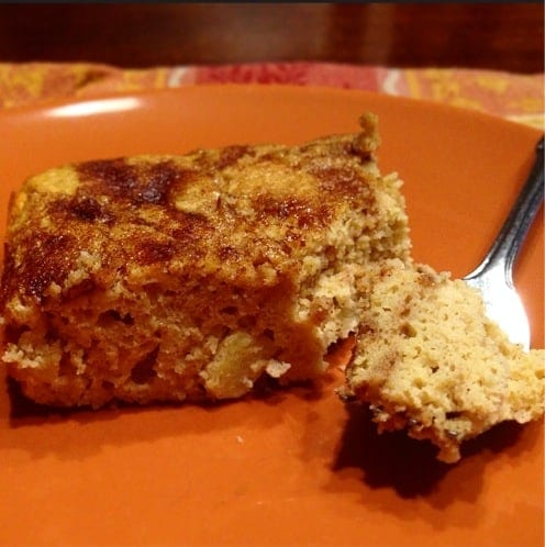 Cinnamon Apple Swirl Protein Cake