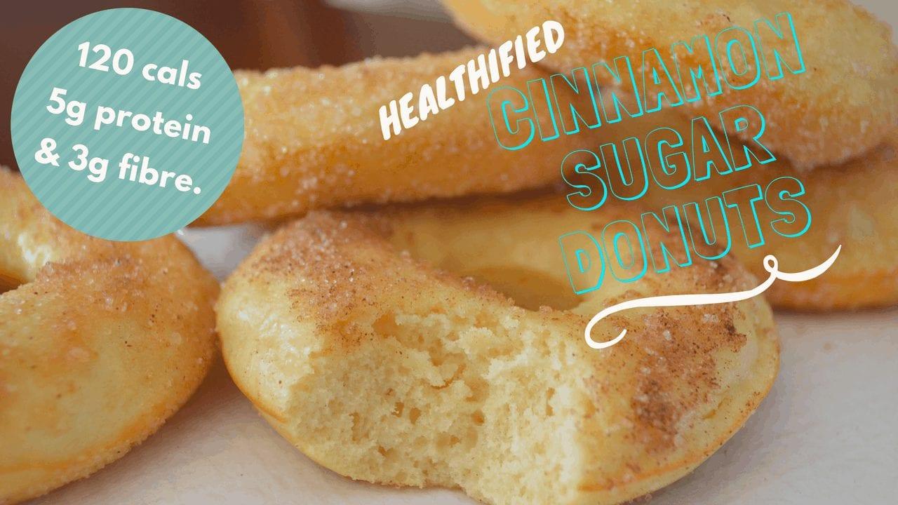 Low-calorie Cinnamon Sugar Protein Donuts