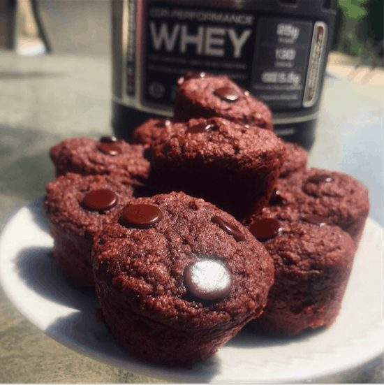 Low-Carb Mini Double Chocolate Muffins
