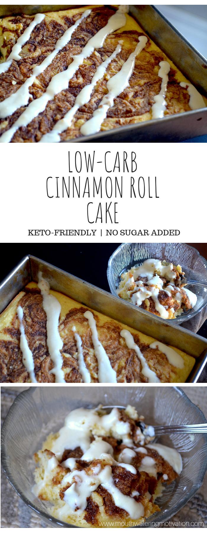 LOW CARB CINNAMON ROLL CAKE
