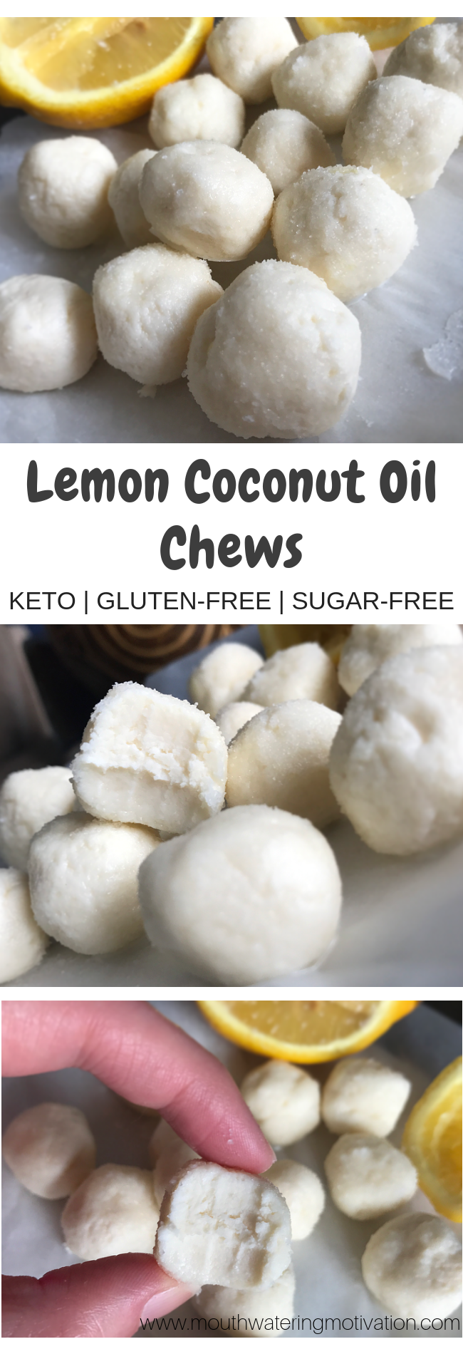 Lemon Coconut Oil Chews