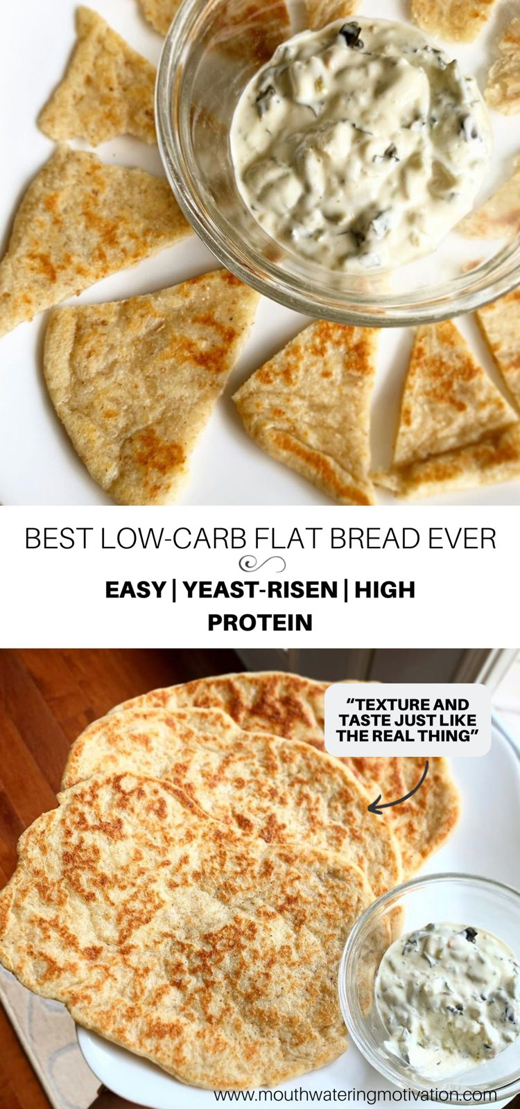 low-carb flat bread