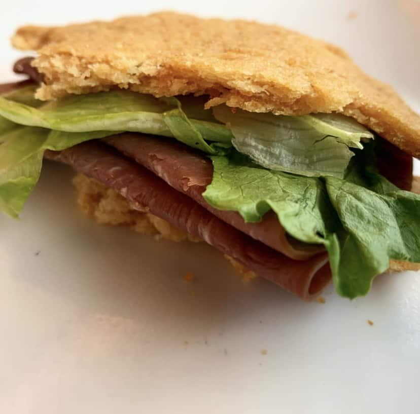 pork rind bread sandwich