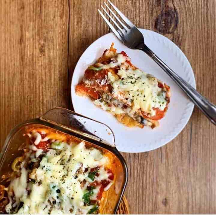 Keto Pizza Lasagna WITH NOODLES