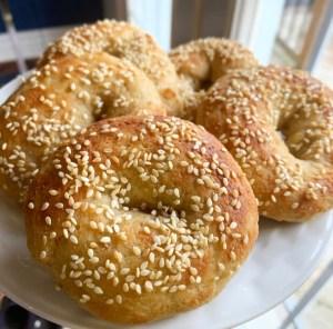 Keto Yeast Risen Bagels