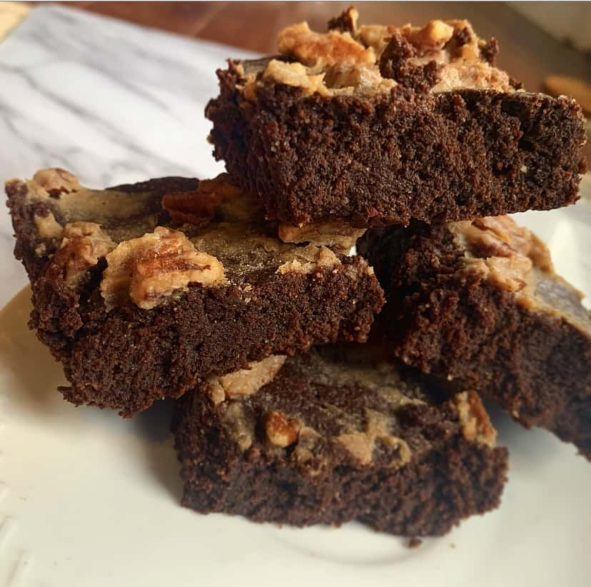 keto turtle brownies