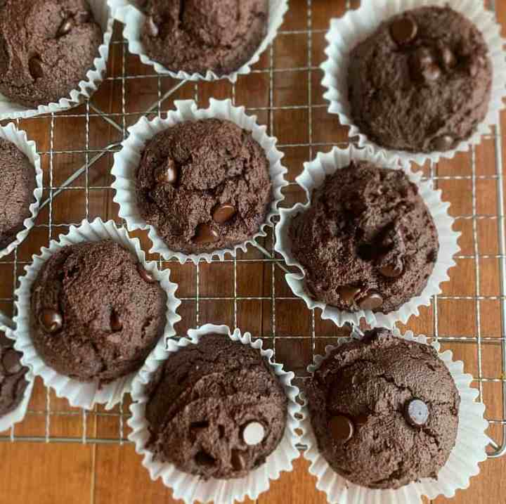 Keto Chocolate Banana Muffins