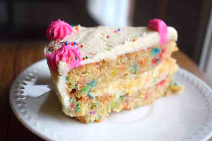 Keto Funfetti Birthday Cake
