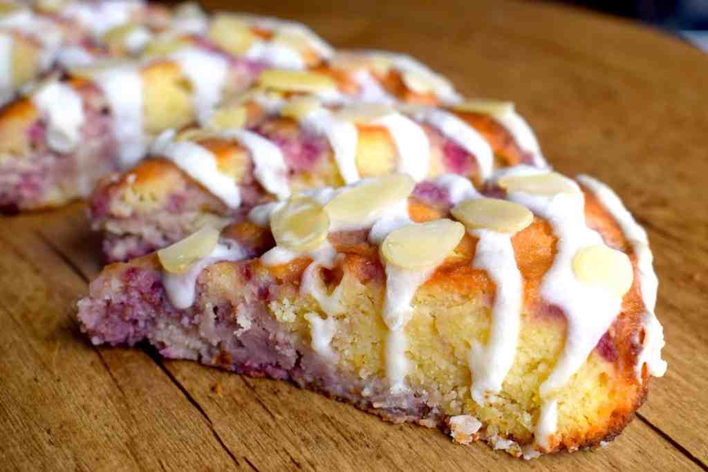 keto raspberry almond scones