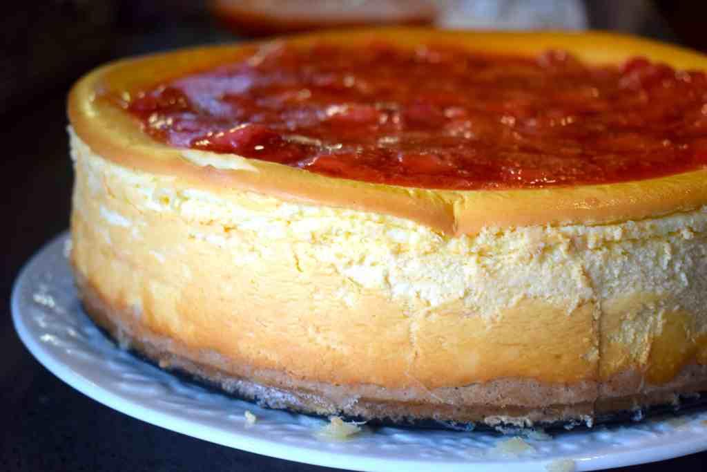 keto strawberry new york cheesecake