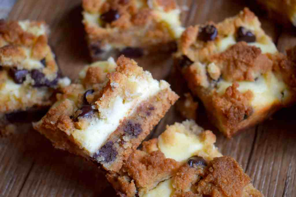 Keto Chocolate Chip Cookie Cheesecake Bars
