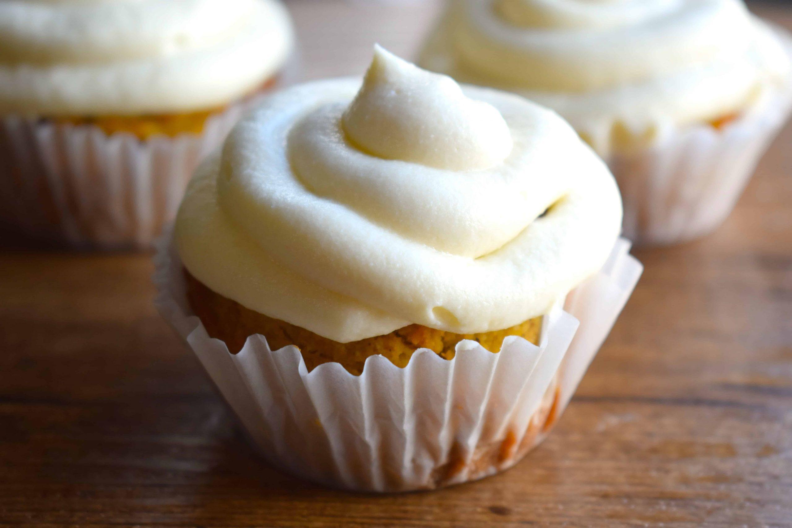 Keto Carrot Cupcakes