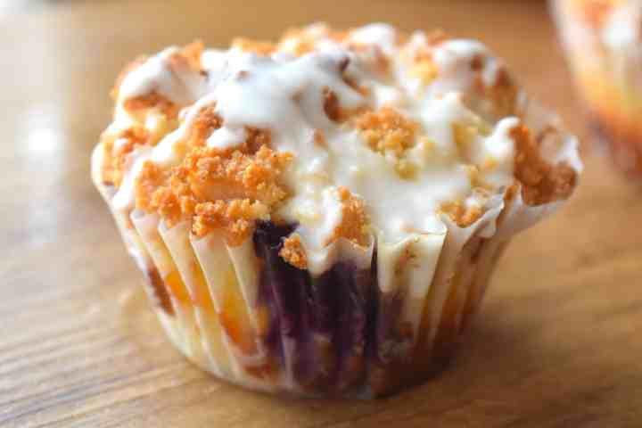 Keto Lemon Blueberry Muffins