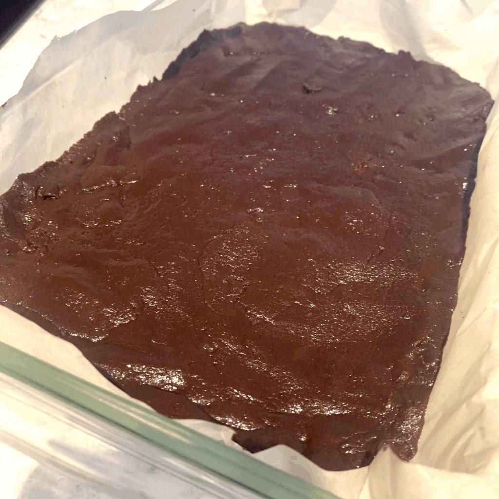 keto brownie layer