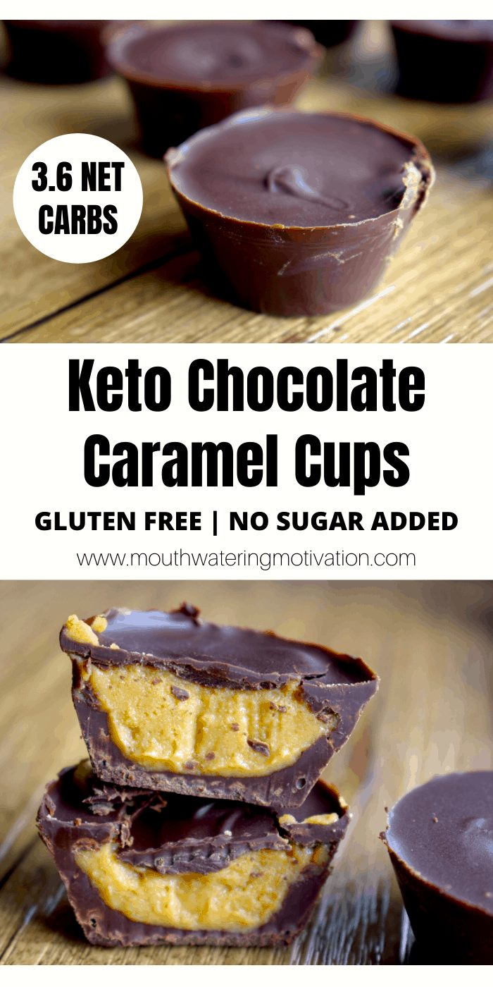 Keto Chocolate Caramel Cups