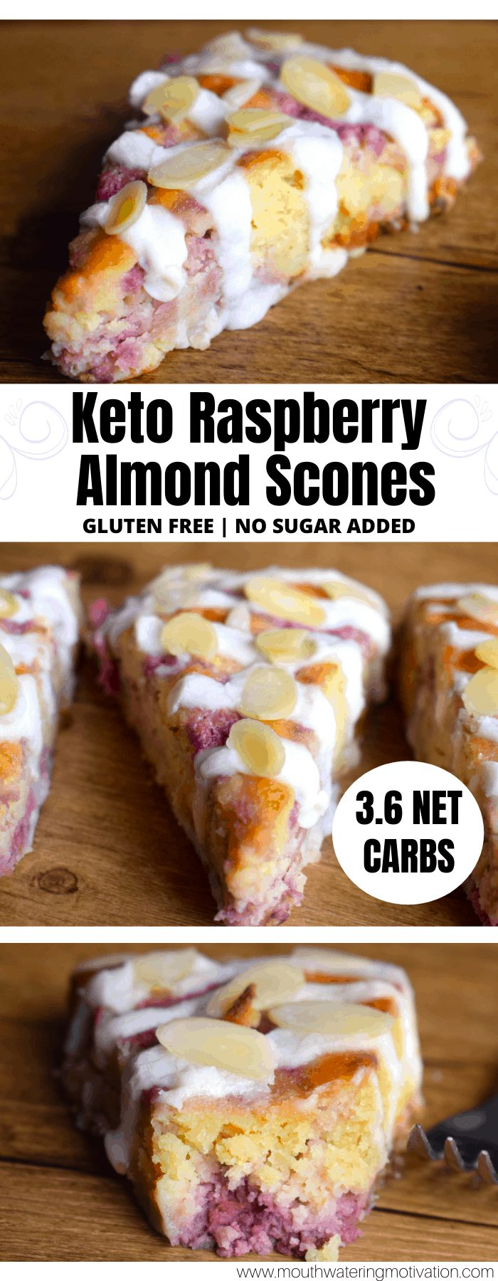 keto raspberry almond scones