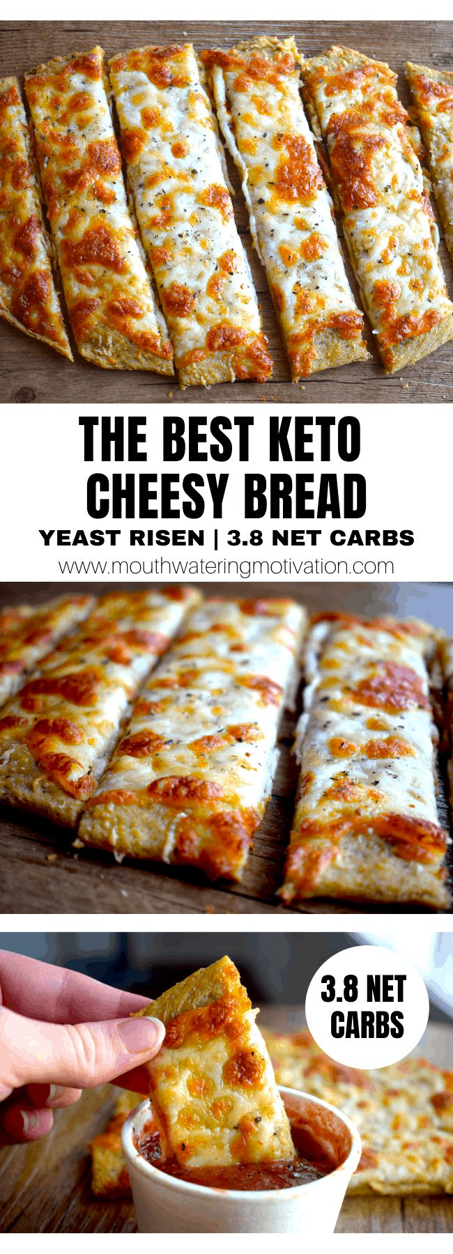 THE BEST KETO CHEESY BREAD