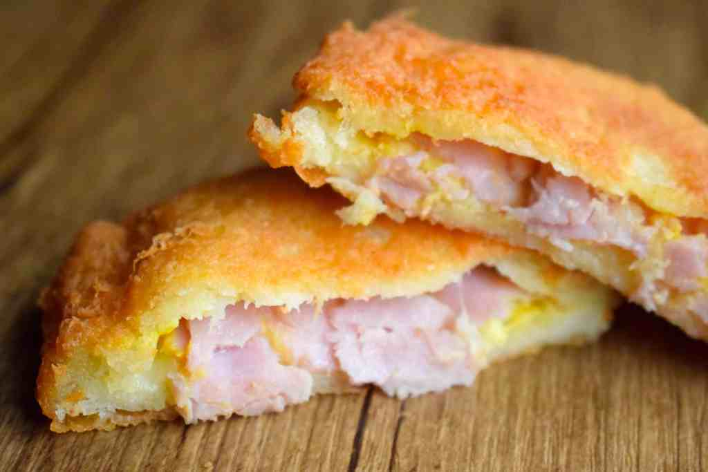 keto fried ham and cheese sandwiches recipe