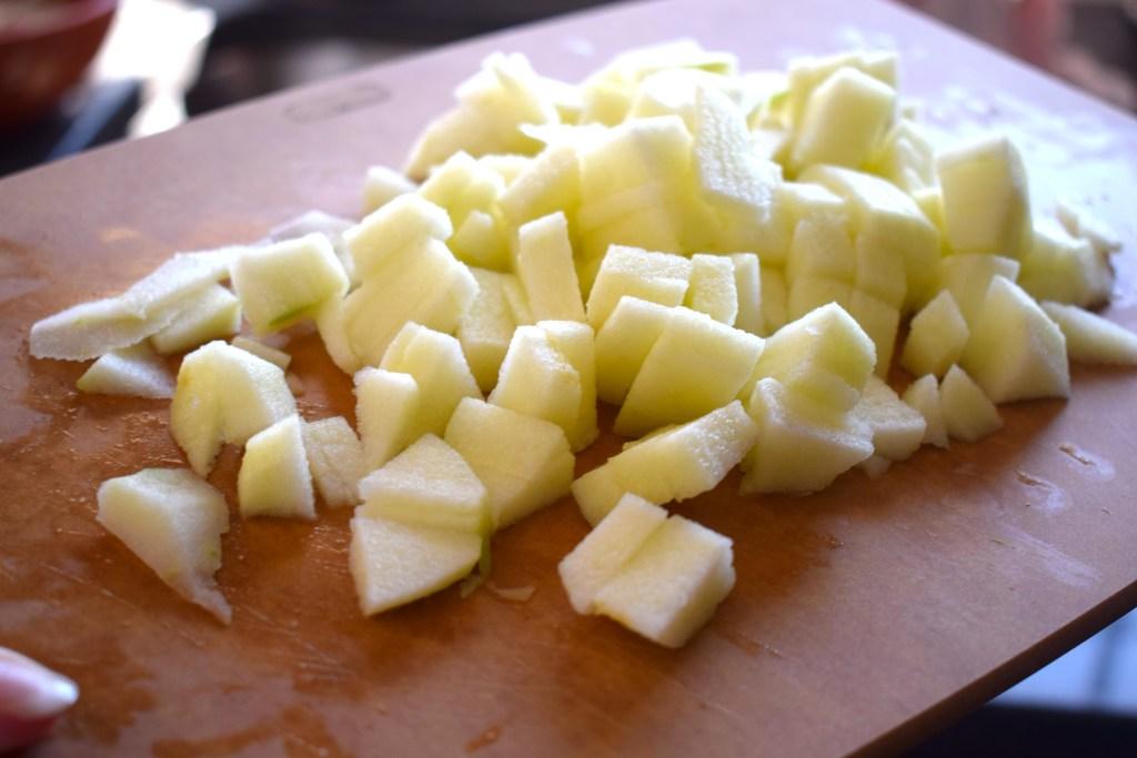 chopped Granny Smith apples