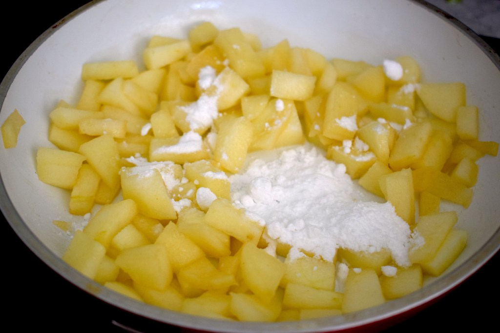 cooked apples with monkfruit sweetener