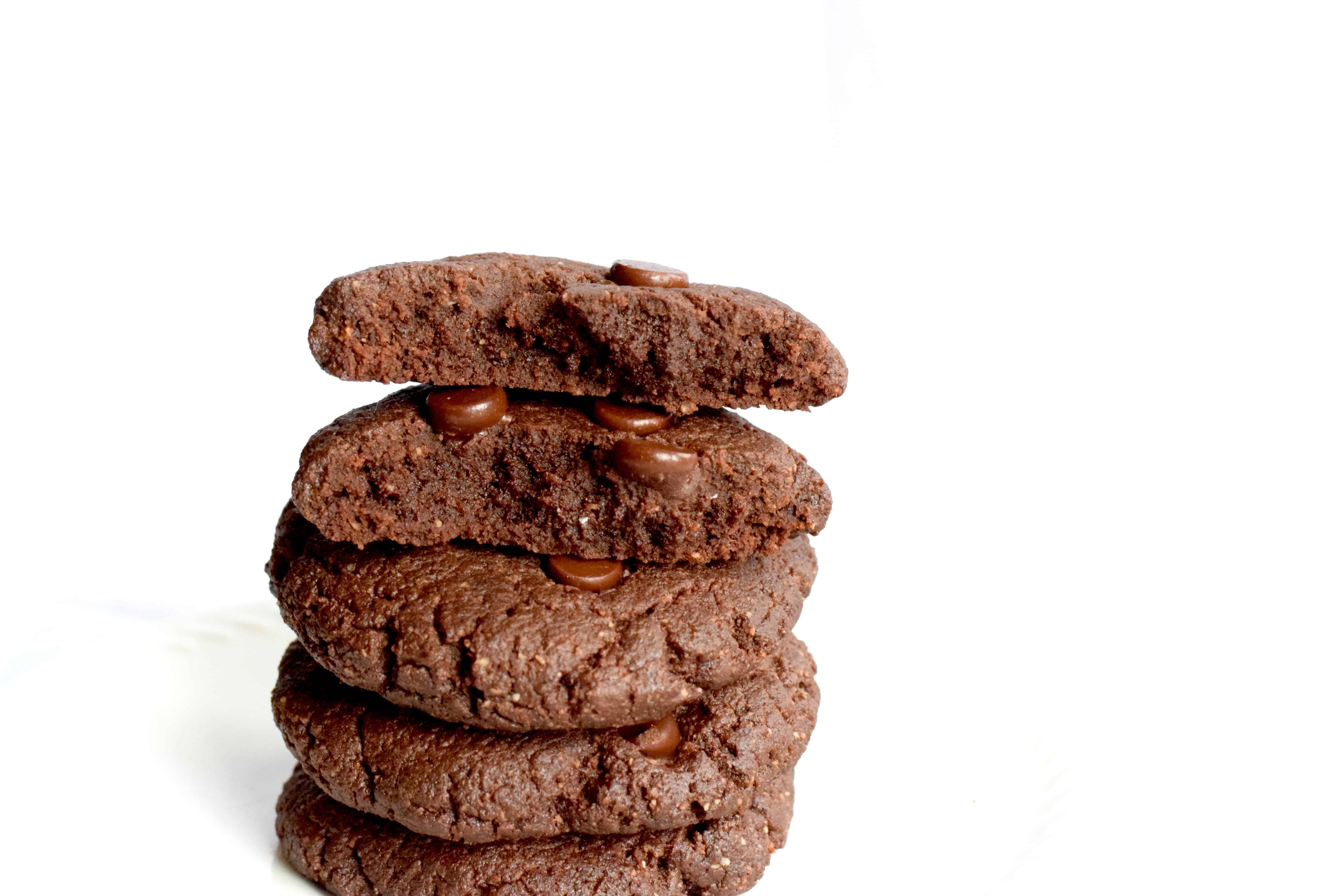 ketolow carb double chocolate chewy cookies