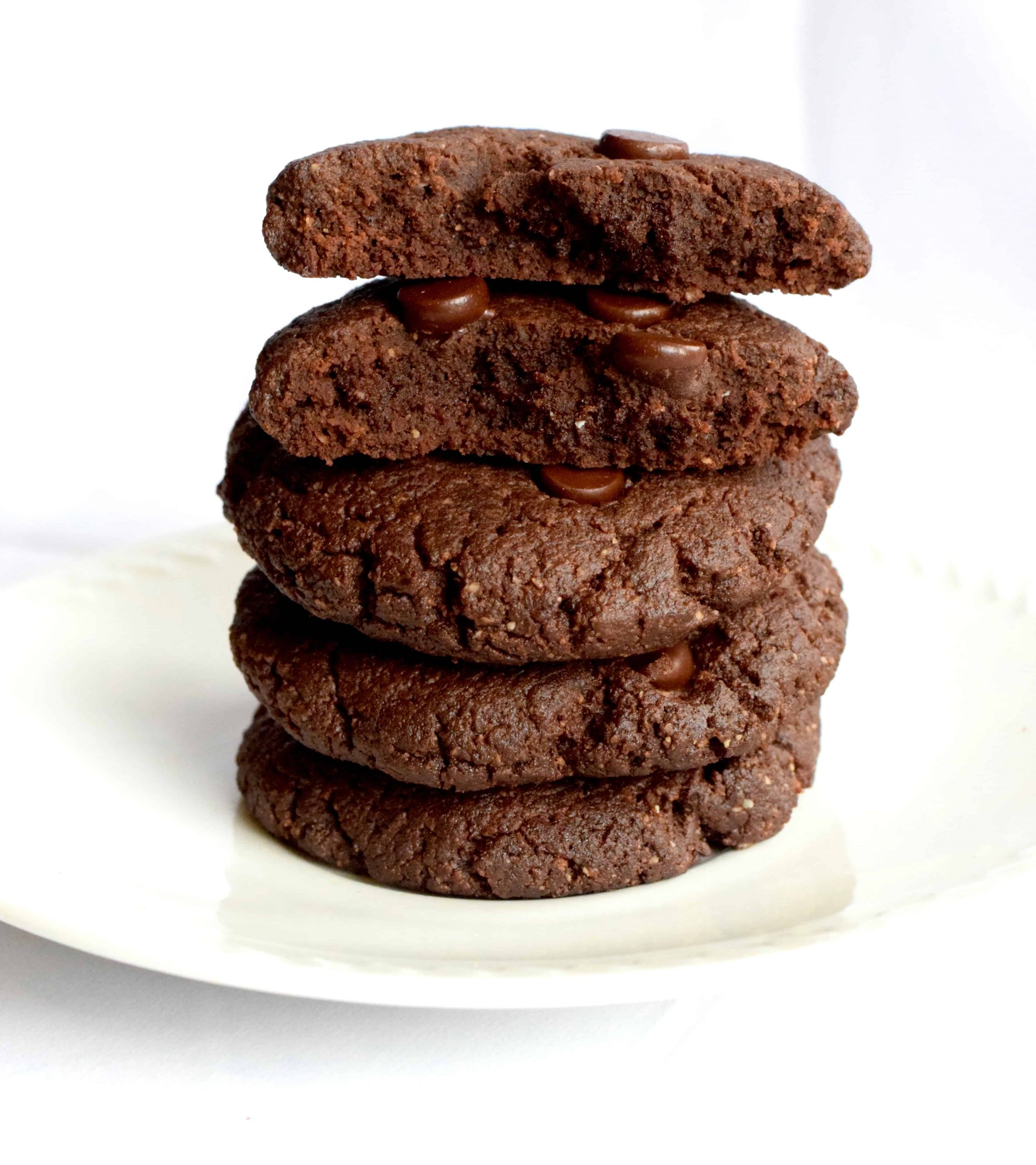 low carb double chocolate chewy cookies