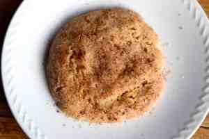 keto microwave snickerdoodle cookie