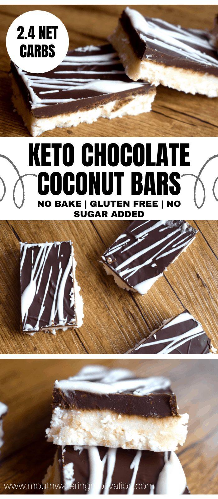 KETO CHOCOLATE COOCNUT BARS