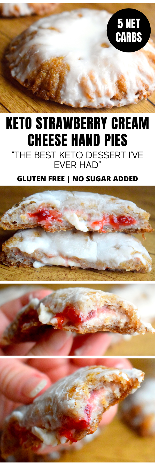 KETO STRAWBERRY CREAM CHEESE HAND PIES