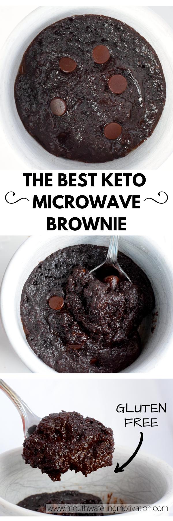the best keto microwave brownie
