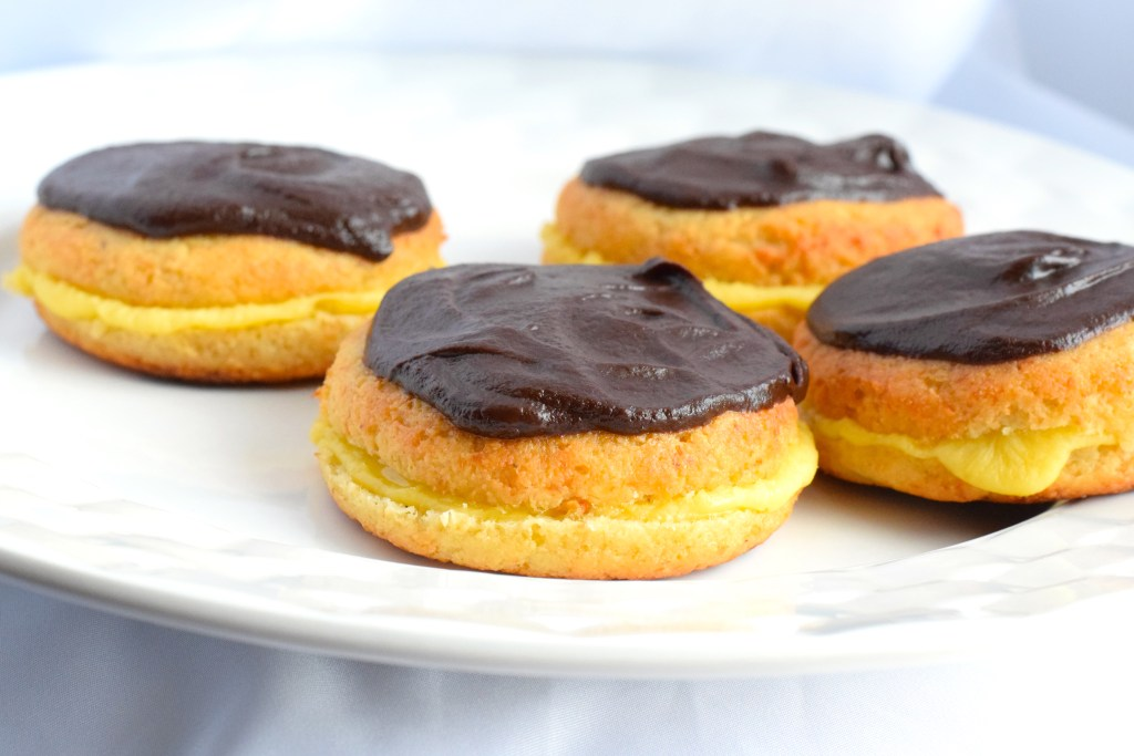 keto cream filled donuts