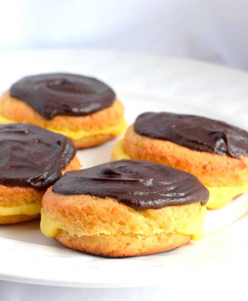 gluten free boston cream donuts