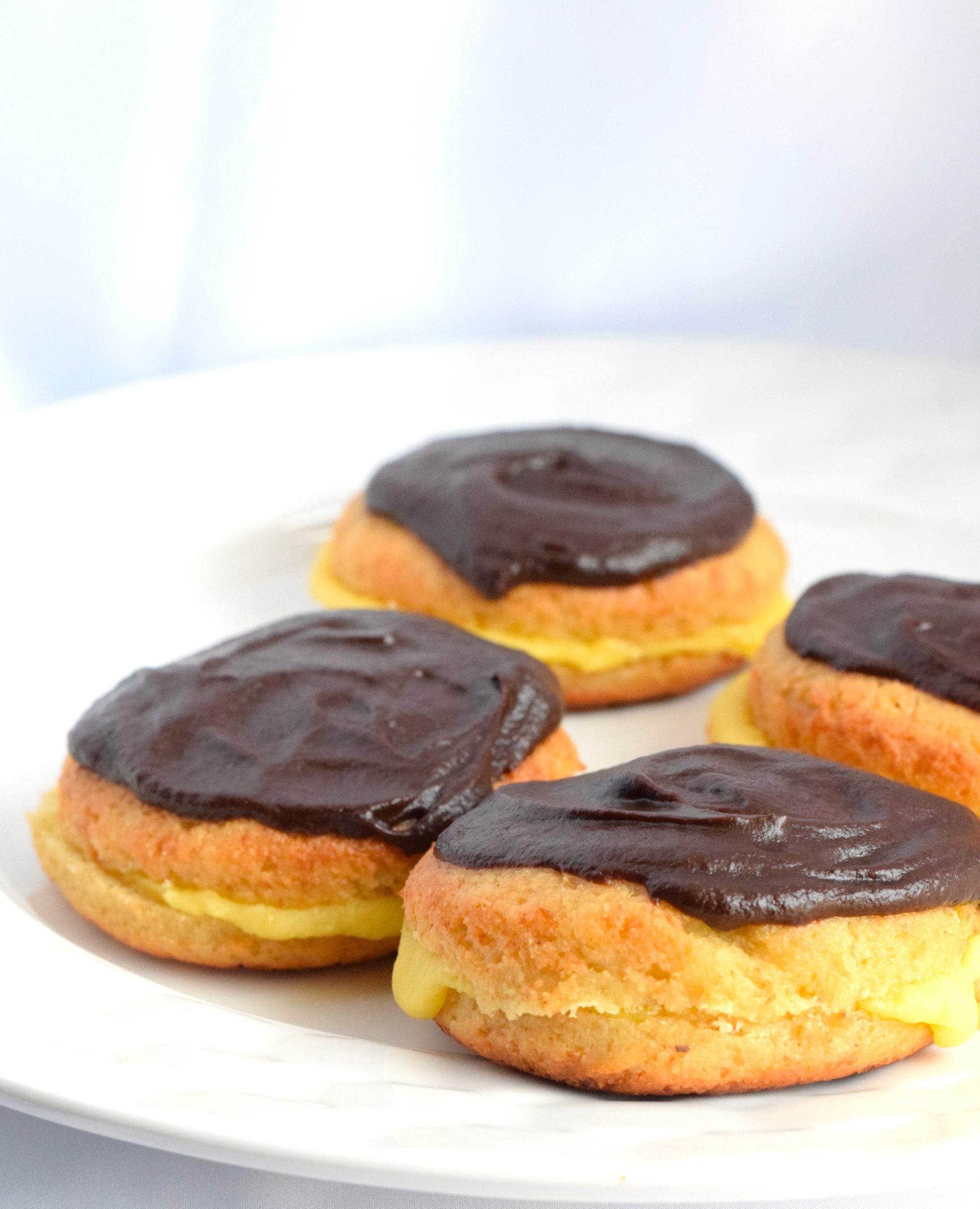 keto boston cream donuts