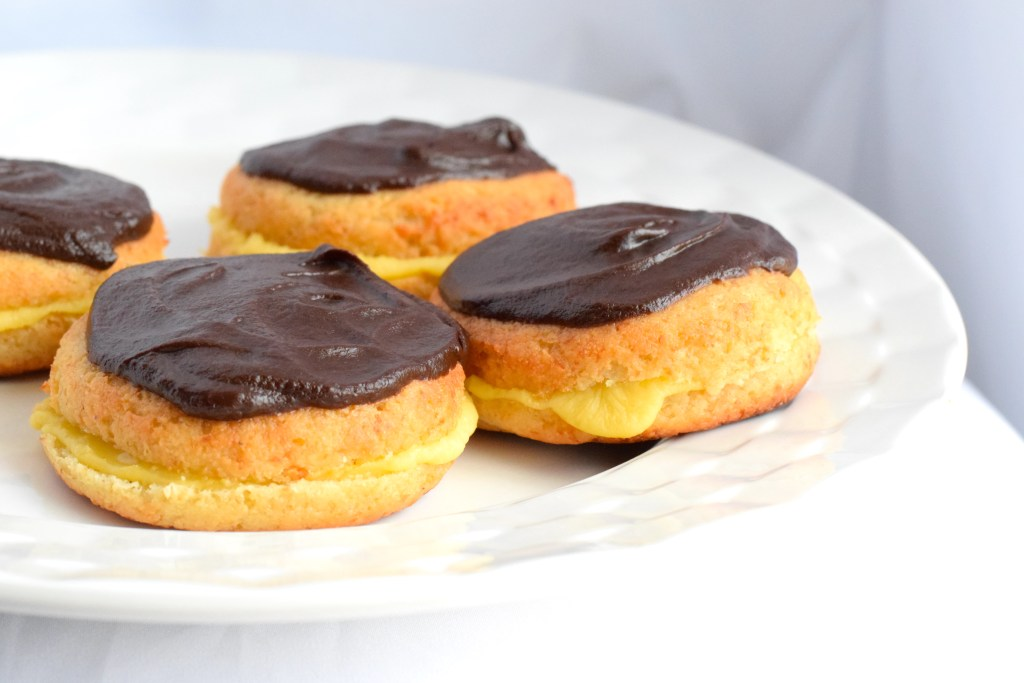 keto boston cream donuts