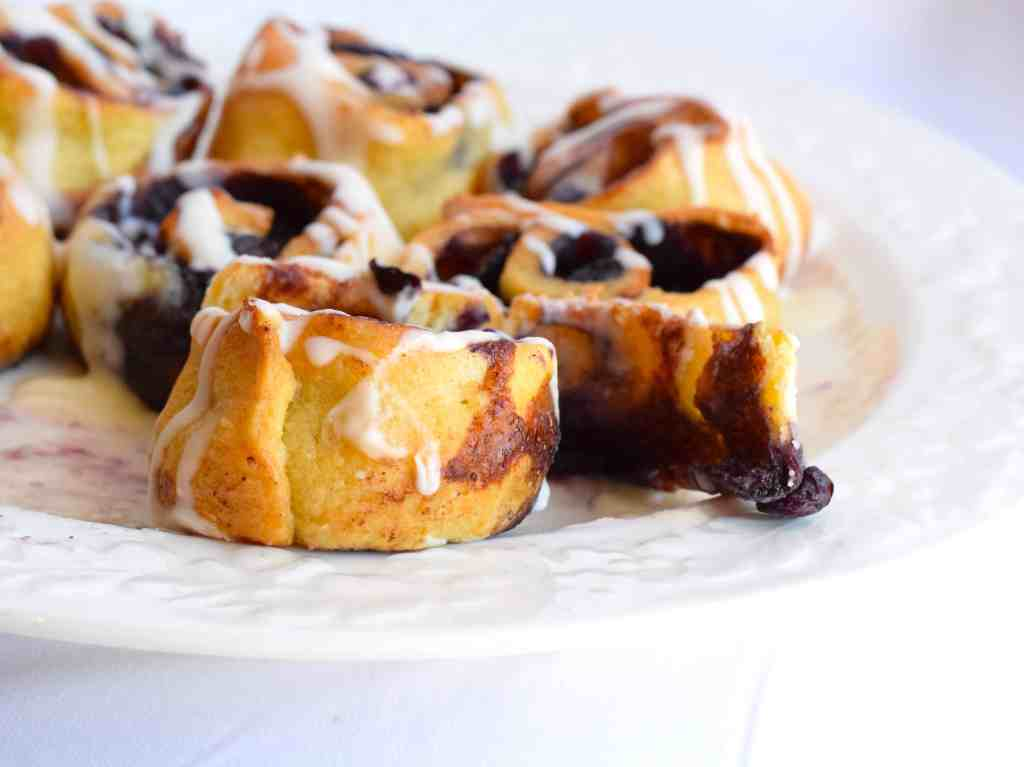 low carb blueberry pastry