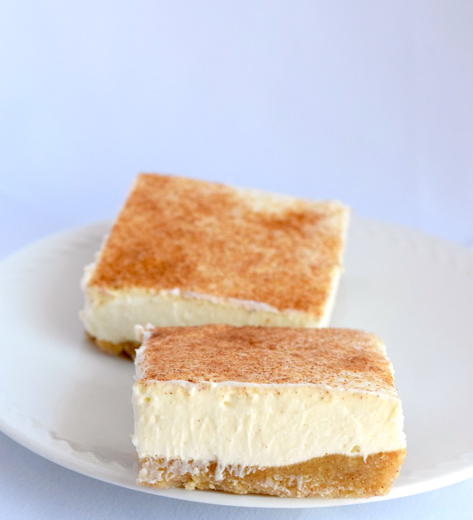 keto snickerdoodle cheesecake bars