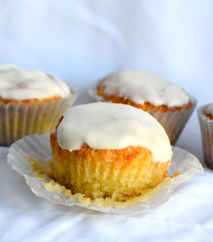 Glazed Keto Coconut Muffins