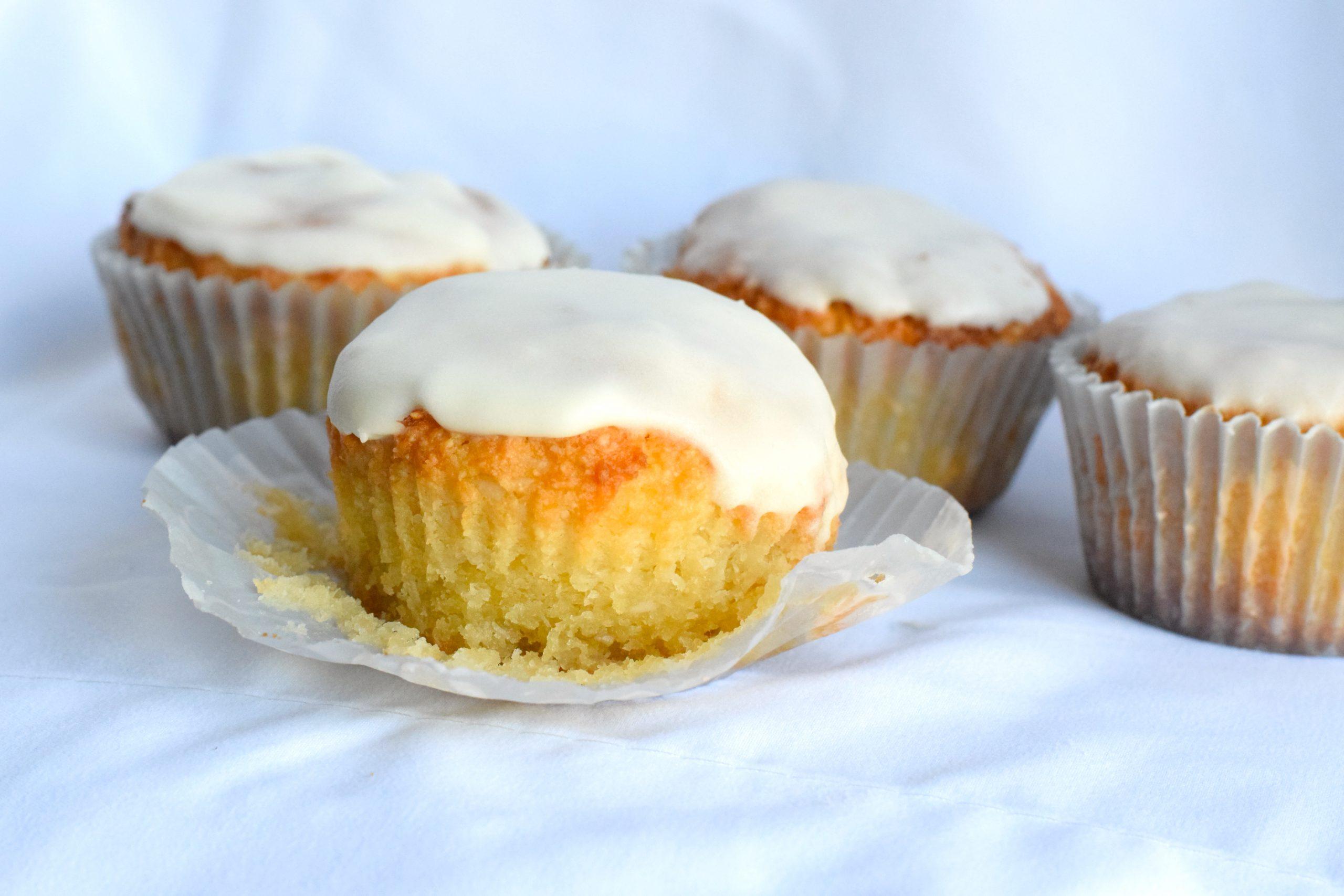 keto coconut muffins glazed