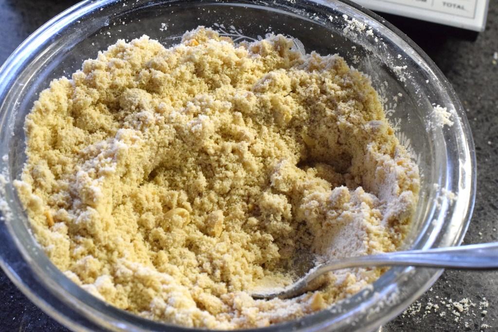almond flour, peanut butter, protein powder, Xanthan Gum