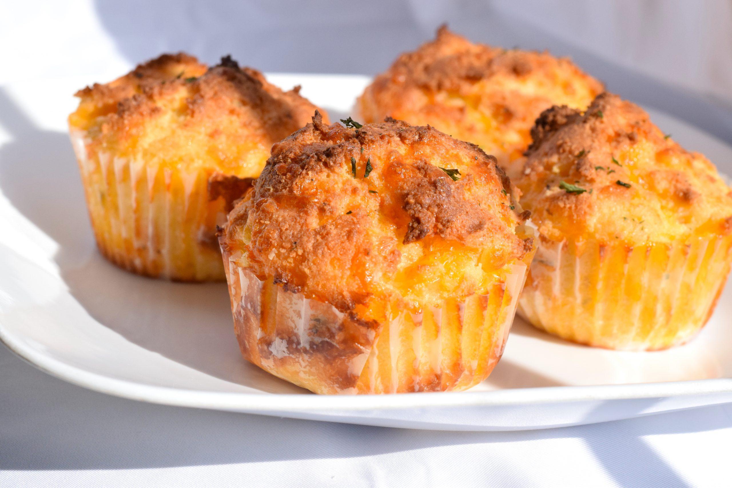 Keto Cheddar Cheese Muffins