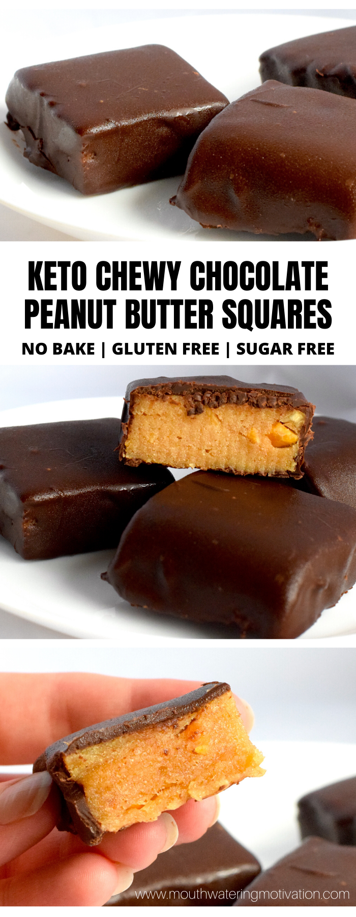 Keto Chewy Chocolate Peanut Butter Squares