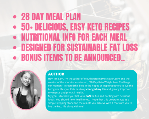keto weight loss plan author