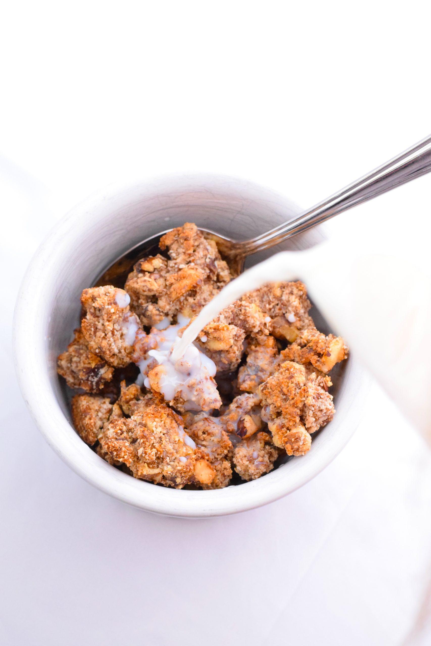 crunchy low carb keto granola
